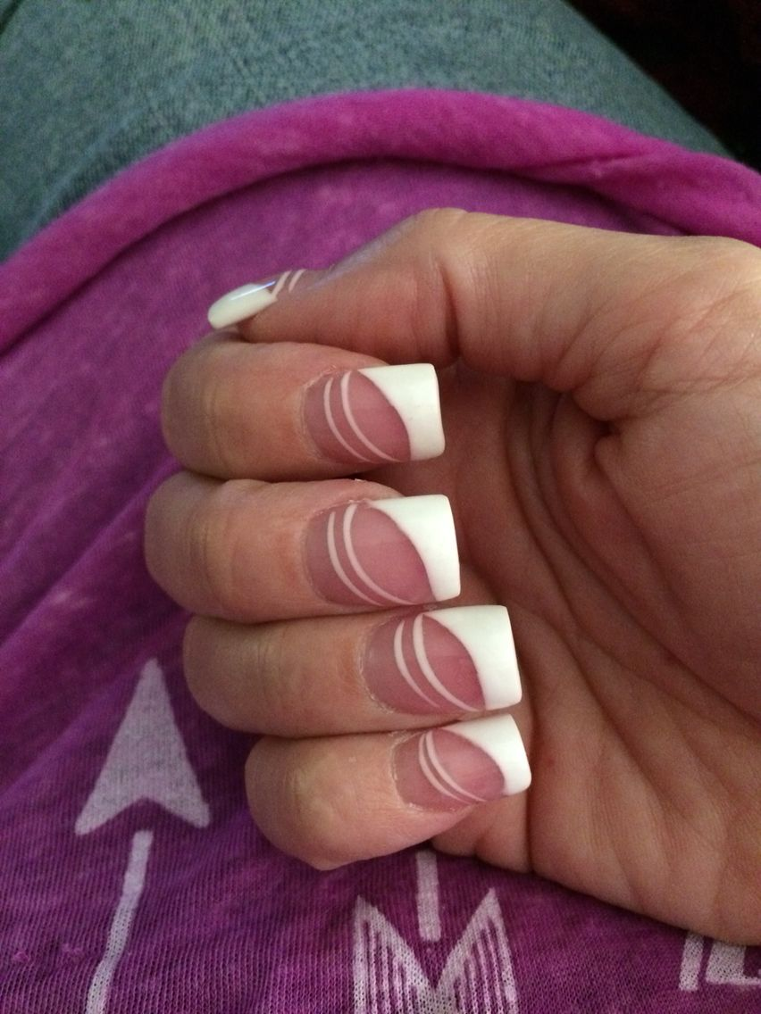 White is where it's at Nails for U.S Oregon City Oregon