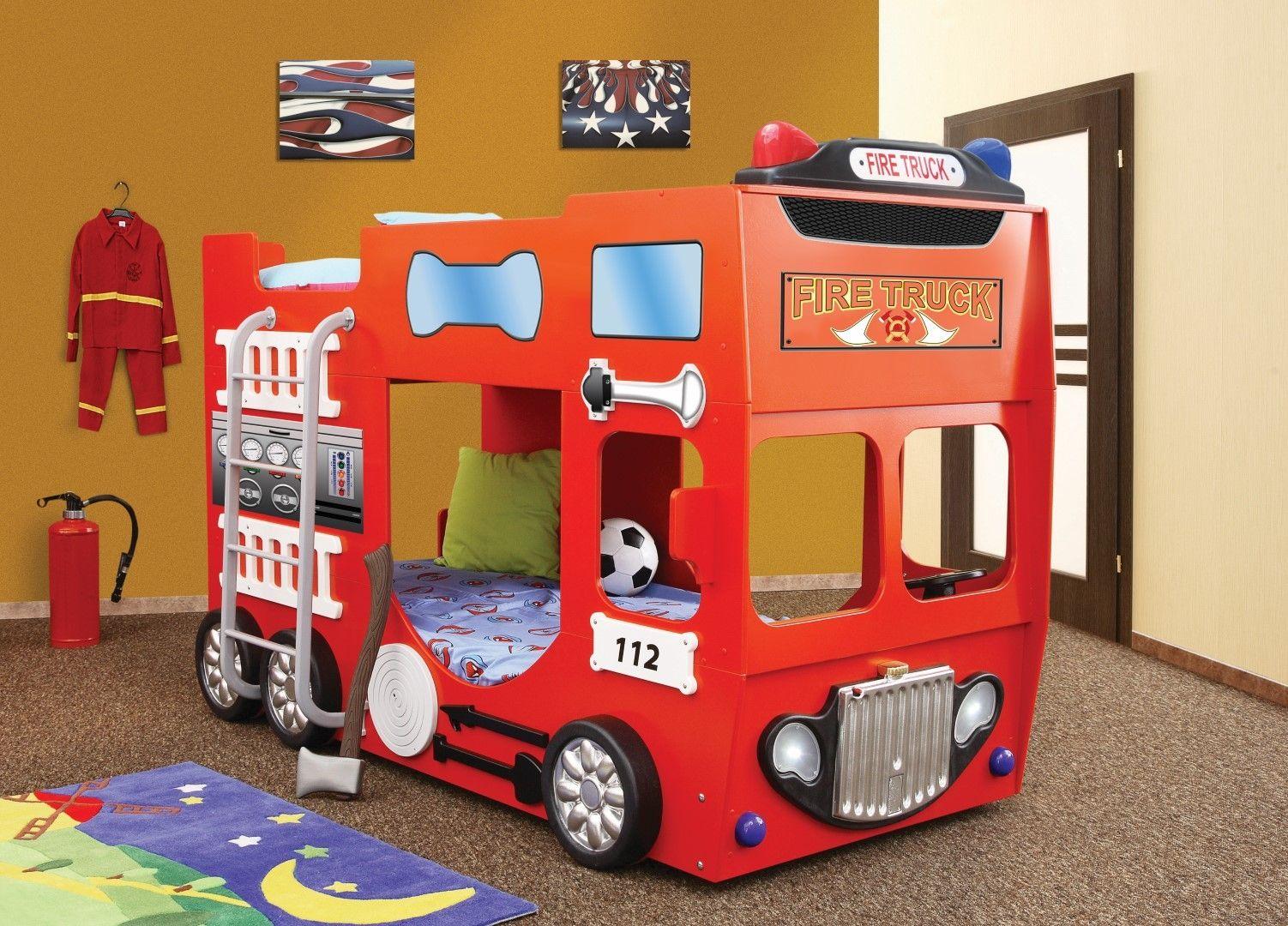 Brandweer Auto Stapelbed.Walt Disney Brandweerbed Kinderbed Inspiratie Stapelbedden