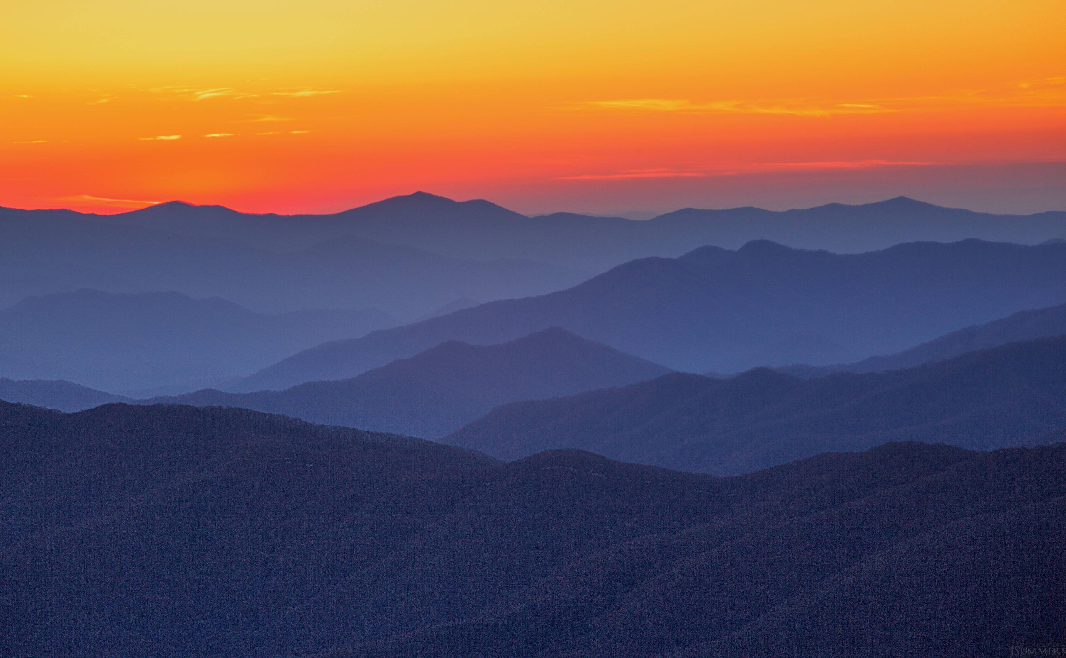 Autumn Sunset Scenes/cerulean Blue