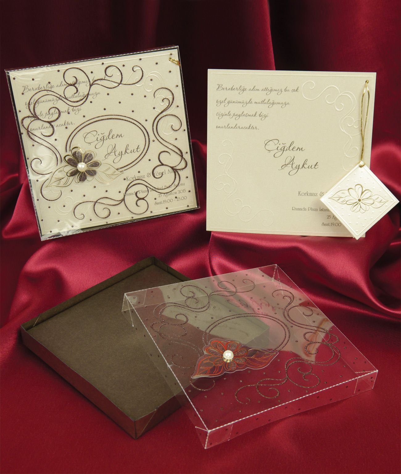 wedding invitation sample by email%0A Wedding invitation cards      Sedef D      n davetiyesi www sedefcards com