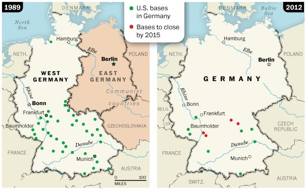 Map Us Army Bases In Germany | Germany, East germany, Army