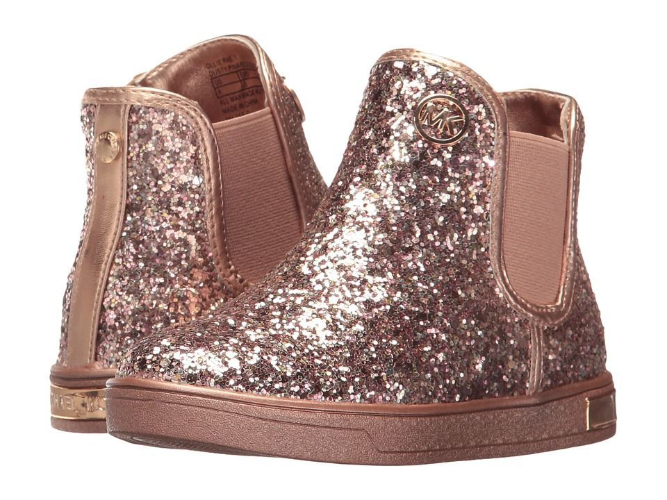 19d46d103c125 MICHAEL Michael Kors Kids Ollie Rae (Toddler) Girl s Shoes Rose Gold  Glitter  KidsFashionShoes