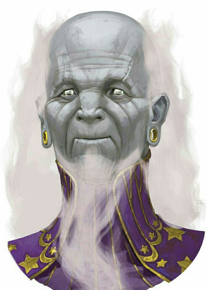 Old Male Sylph Wizard - Pathfinder PFRPG DND D&D d20 fantasy