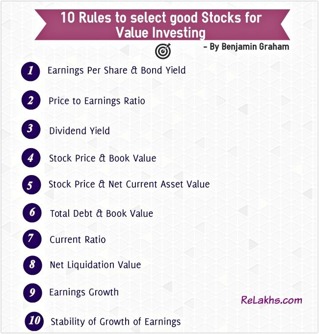 10 Rules To Select Good Value Stocks Value Investing Investing