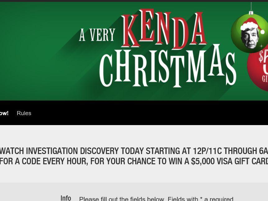 A Very Kenda Christmas.Enter The Investigation Discovery S A Very Kenda Christmas