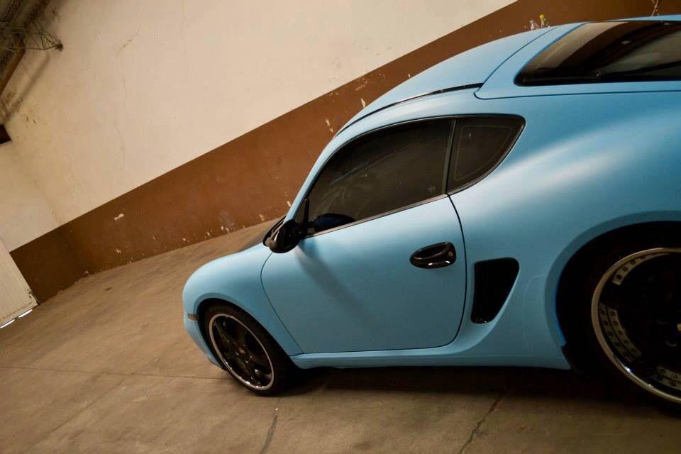 Matte sky blue porsche vvivid vinyl   VViViD Auto Projects   Car