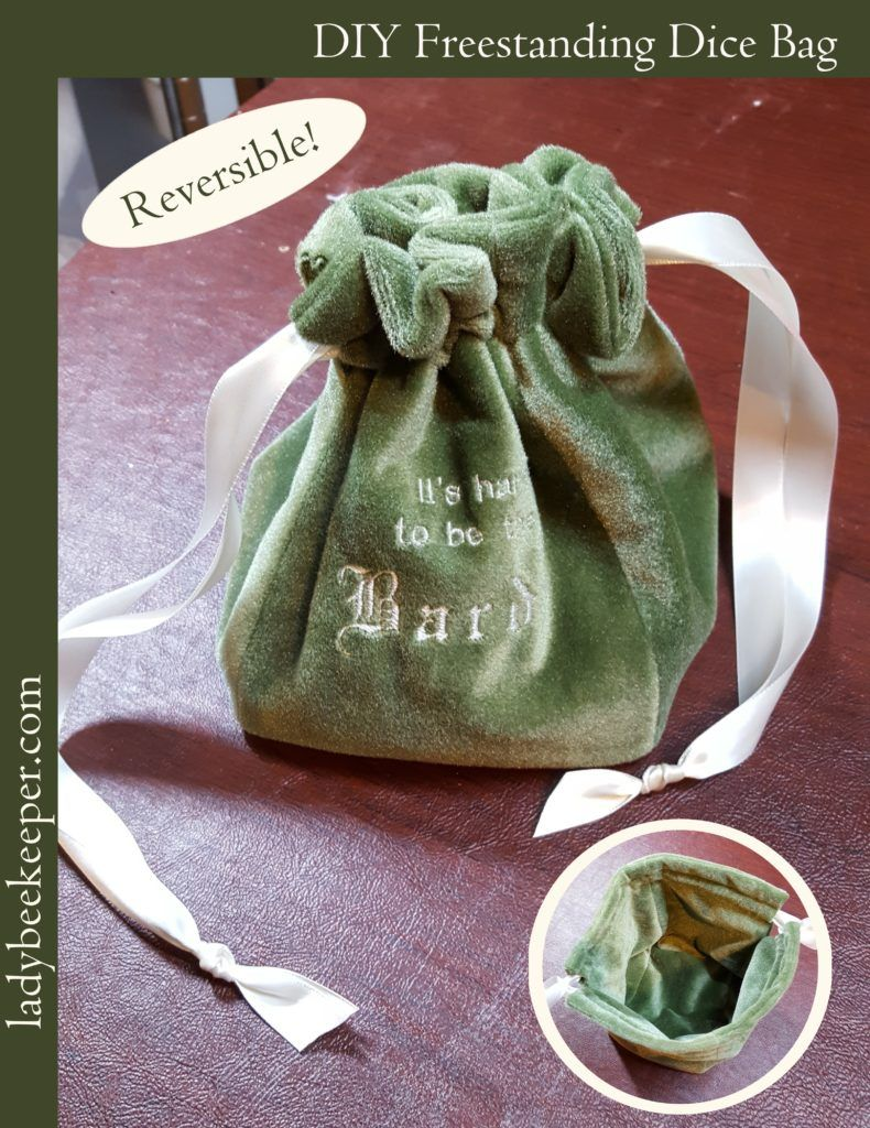 Reversible Freestanding Dice Bag - full tutorial from The Lady ...