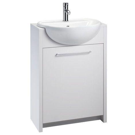 openspace 305 semi inset basin unit white gloss bathroom inset rh pinterest com