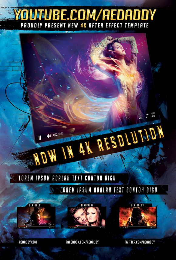 Video Premiere Flyer 4x6 PSD by Aedaddy on Creative Market | Graphic ...