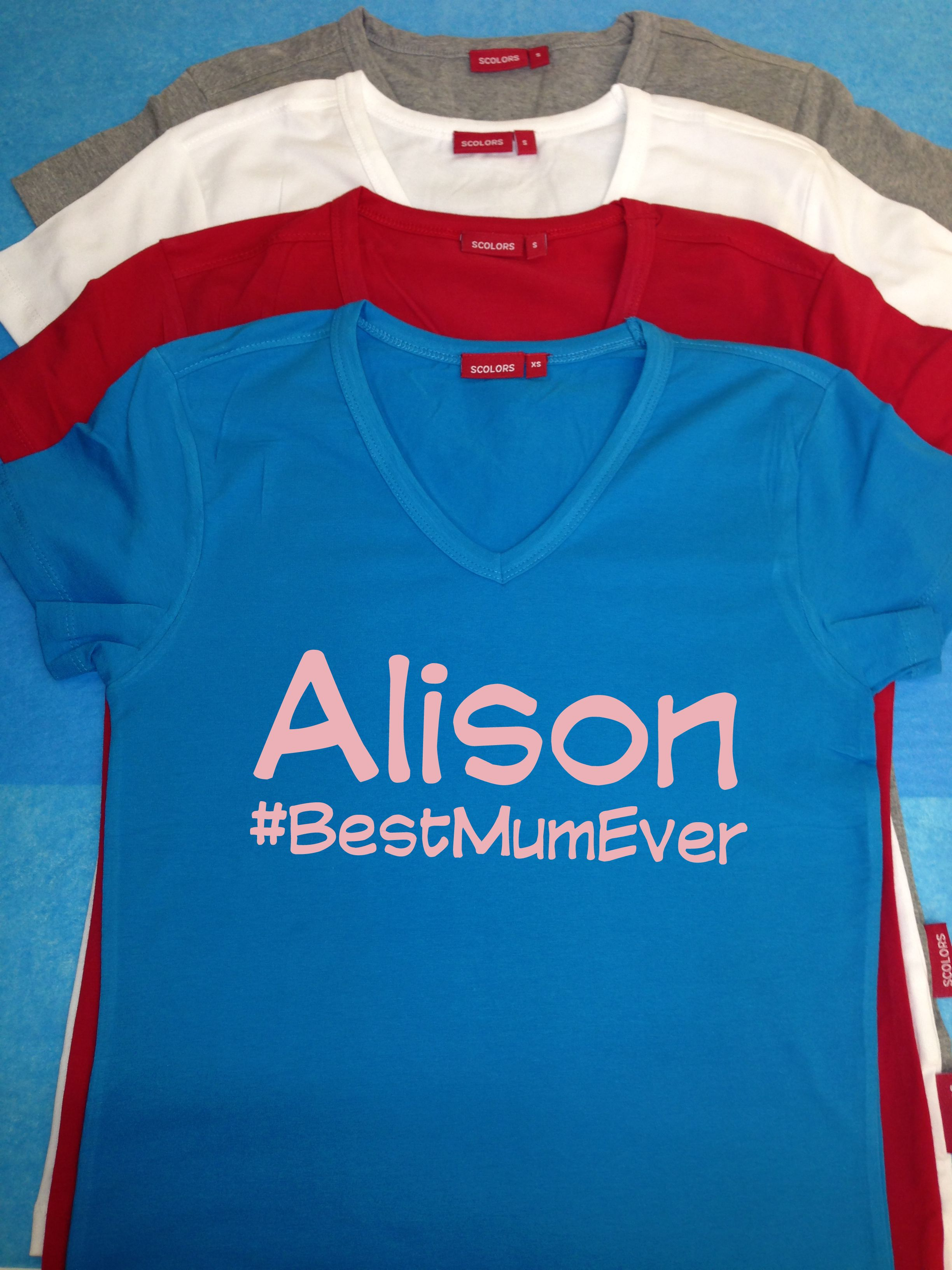 Personalised Women's #HashTag T Shirt - Perfect present idea for Mothers Day #BestMumEver