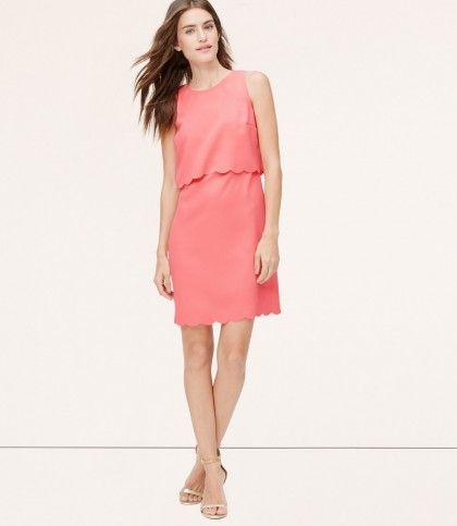 LOFT scalloped dress | theglitterguide.com