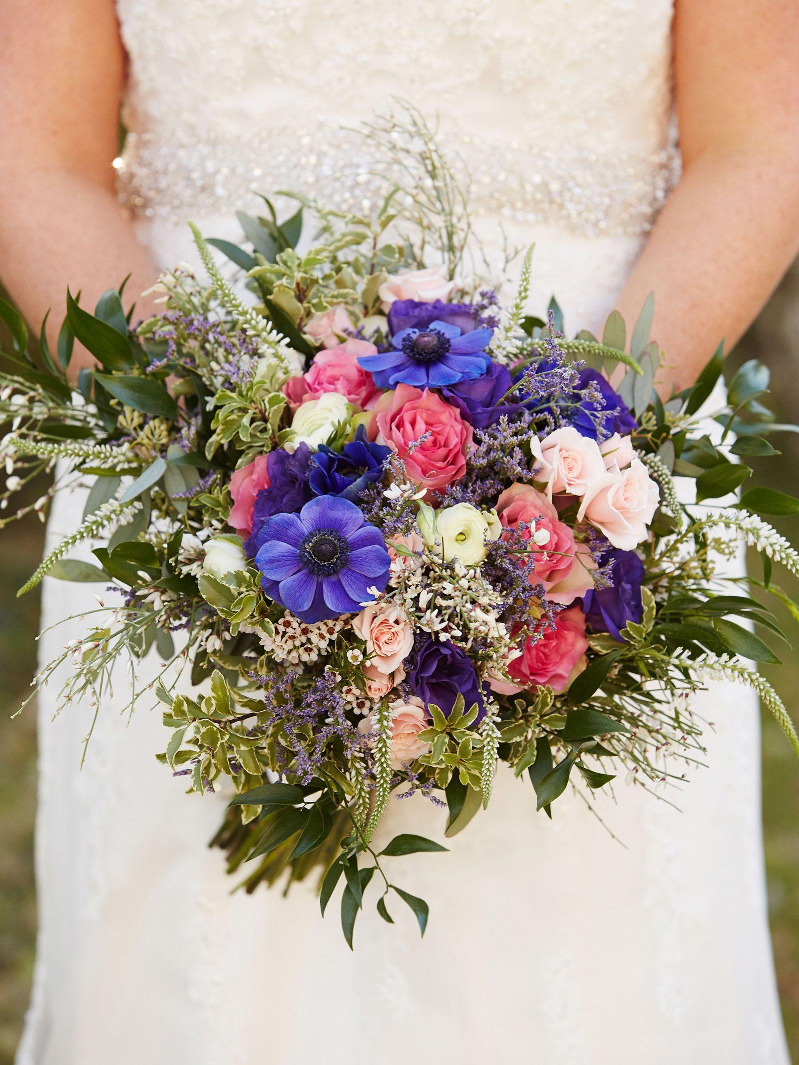 spring wildflower wedding bouquets