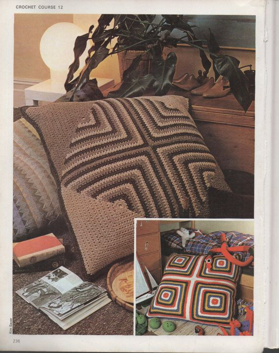 Vintage 1960s Crochet Pattern to make Granny Square von ickythecat ...