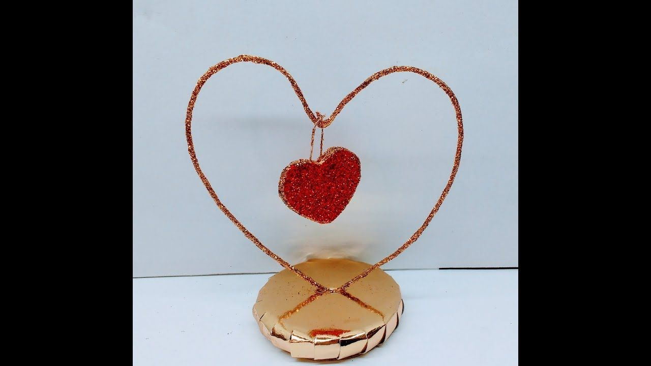 Diy How To Make Valentines Day Gift Showpiece Diy And Crafts