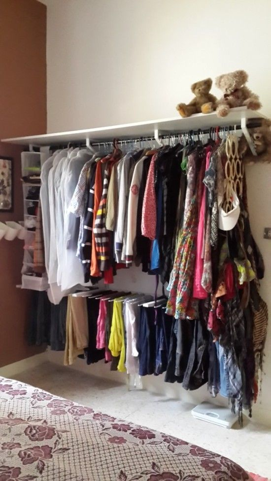 Ikea Algot Closet Organizer  I Like The Pants Hangers!