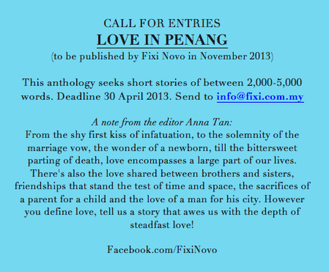 deeply shallow: Love in Penang: a call for entries | Call