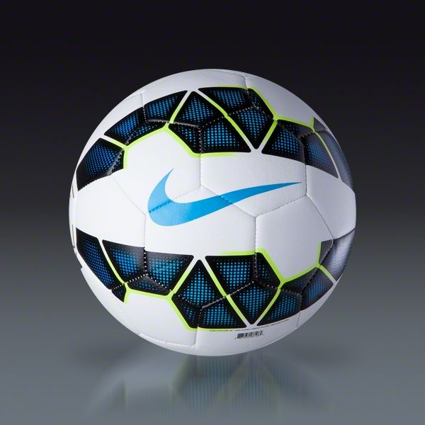 Buy Nike Strike Ball  - White/Black/Blue/Blue   on SOCCER.COM. Best Price Guaranteed. Shop for all your soccer equipment and apparel needs.