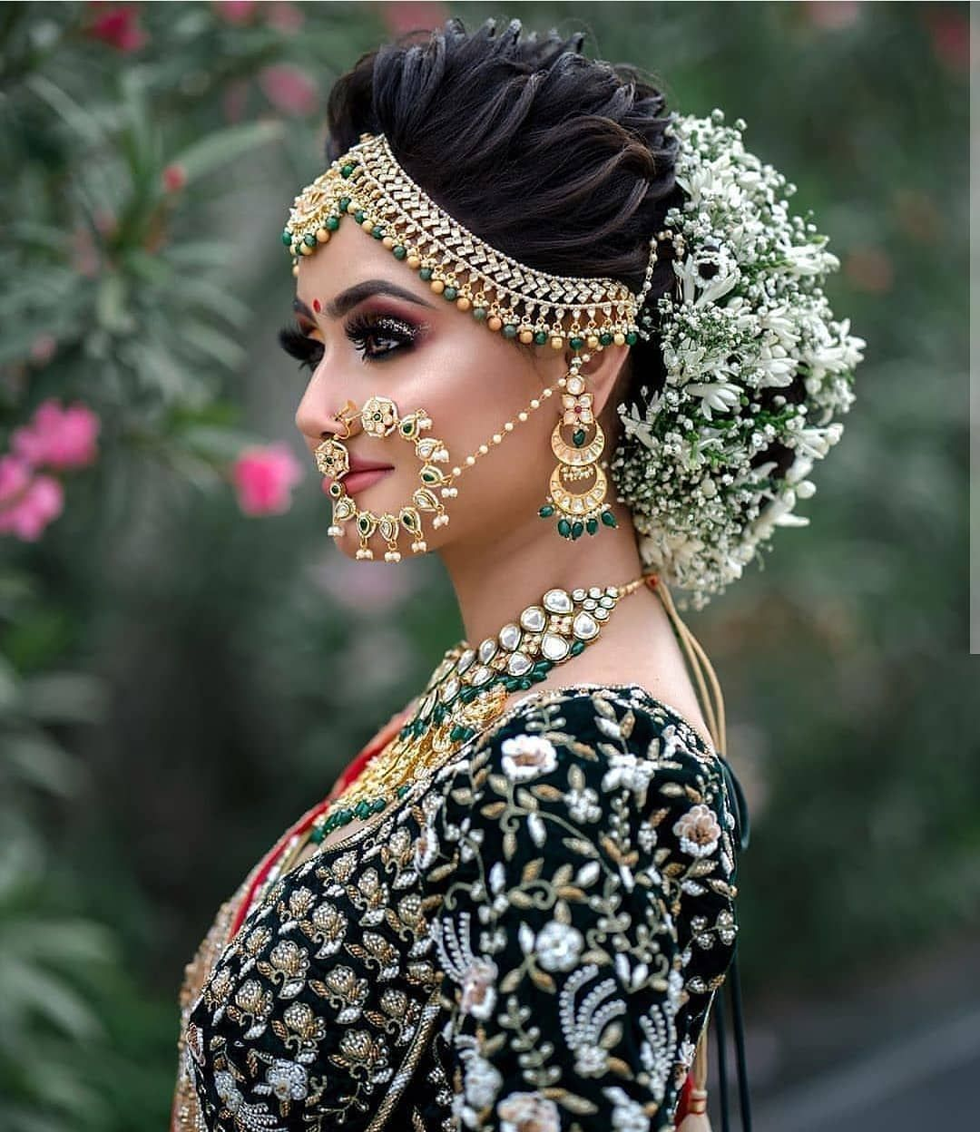 Makeup and Age Bridal hair buns, Indian bridal