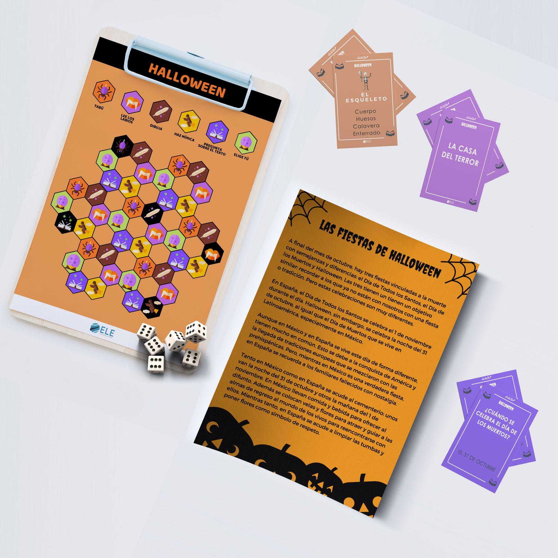 Material De Halloween Trivial De Halloween Especial Con Tarjetas Preguntas Tabú Par Juego Tabú Juegos De Vocabulario Actividades Para Clase De Español