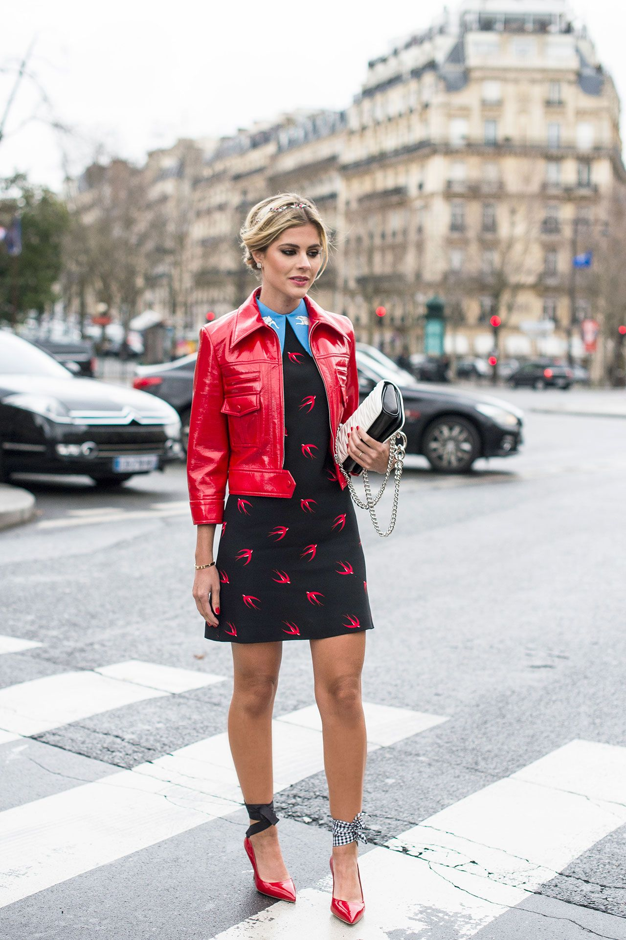 Street Style Outfit Ideas For Every Day In May Red Leather Jackets Red Leather And Leather