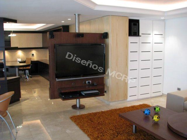 Modulo para tv giratorio de dise o acabado sucupire y acero muebles por dise o dise os mcrp - Mueble giratorio para tv ...