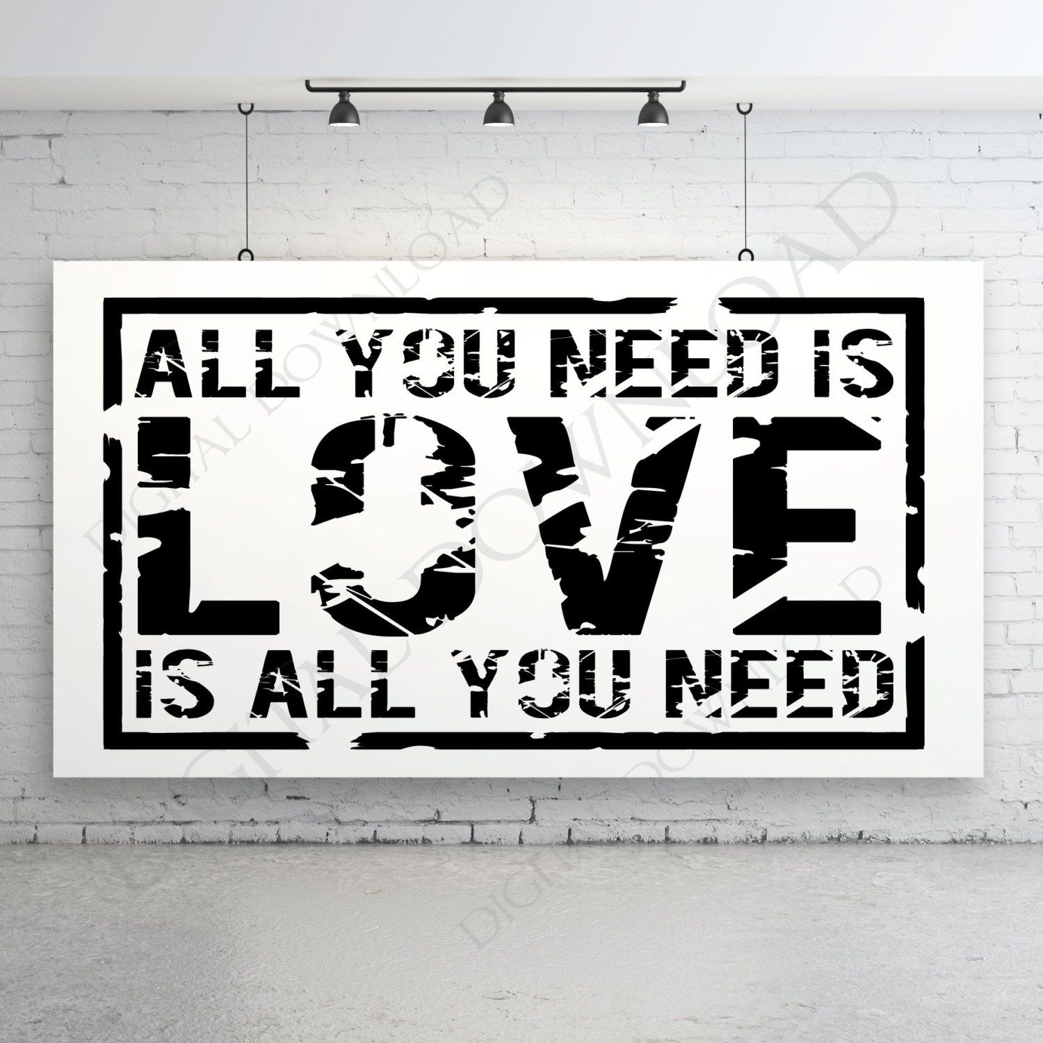 All You Need is LOVE Design Vector Digital Download Ready ...