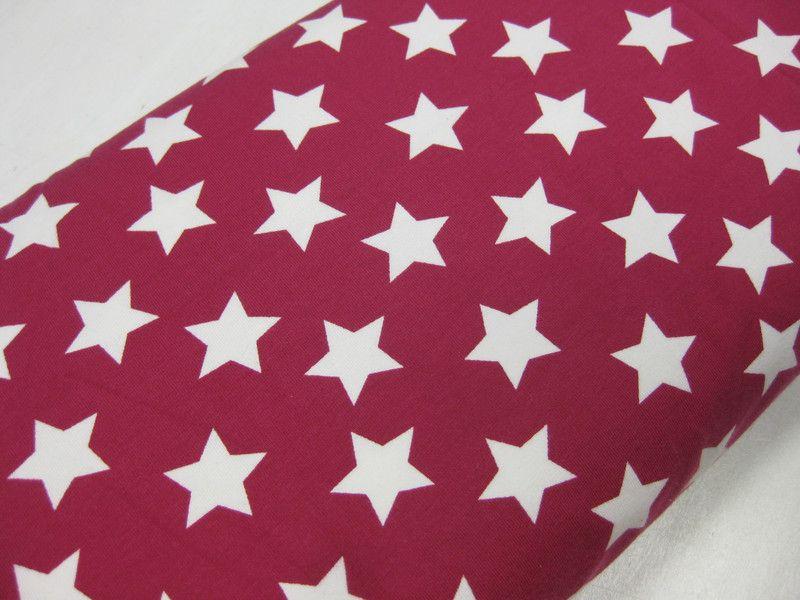 Stoff Sterne - Jersey, Sterne, magenta ♥ 0,5m x 1,5m, pink - ein Designerstück von Schwesterlich bei DaWanda
