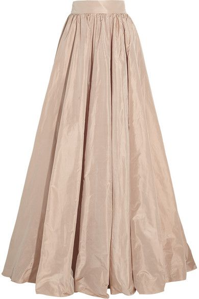 Pleated silk taffeta maxi skirt for the bridesmaids and mother of ...
