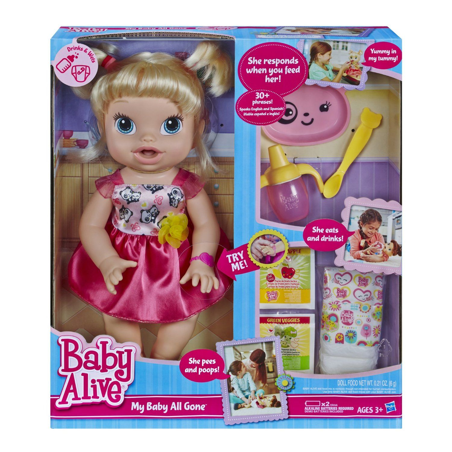 Amazon Com Baby Alive A7022 My Baby All Gone Doll Toys