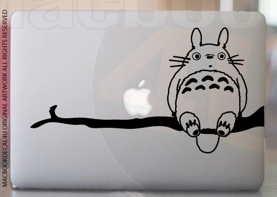 Totoro on tree vinyl Decal/ stickers /skin for Mac pro