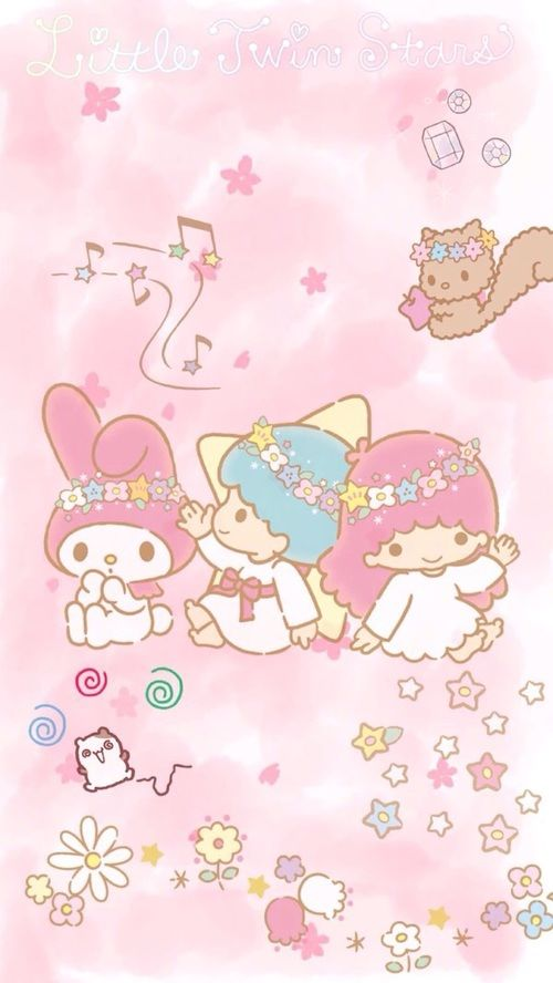 Little Twin Stars My Melody Wallpaper