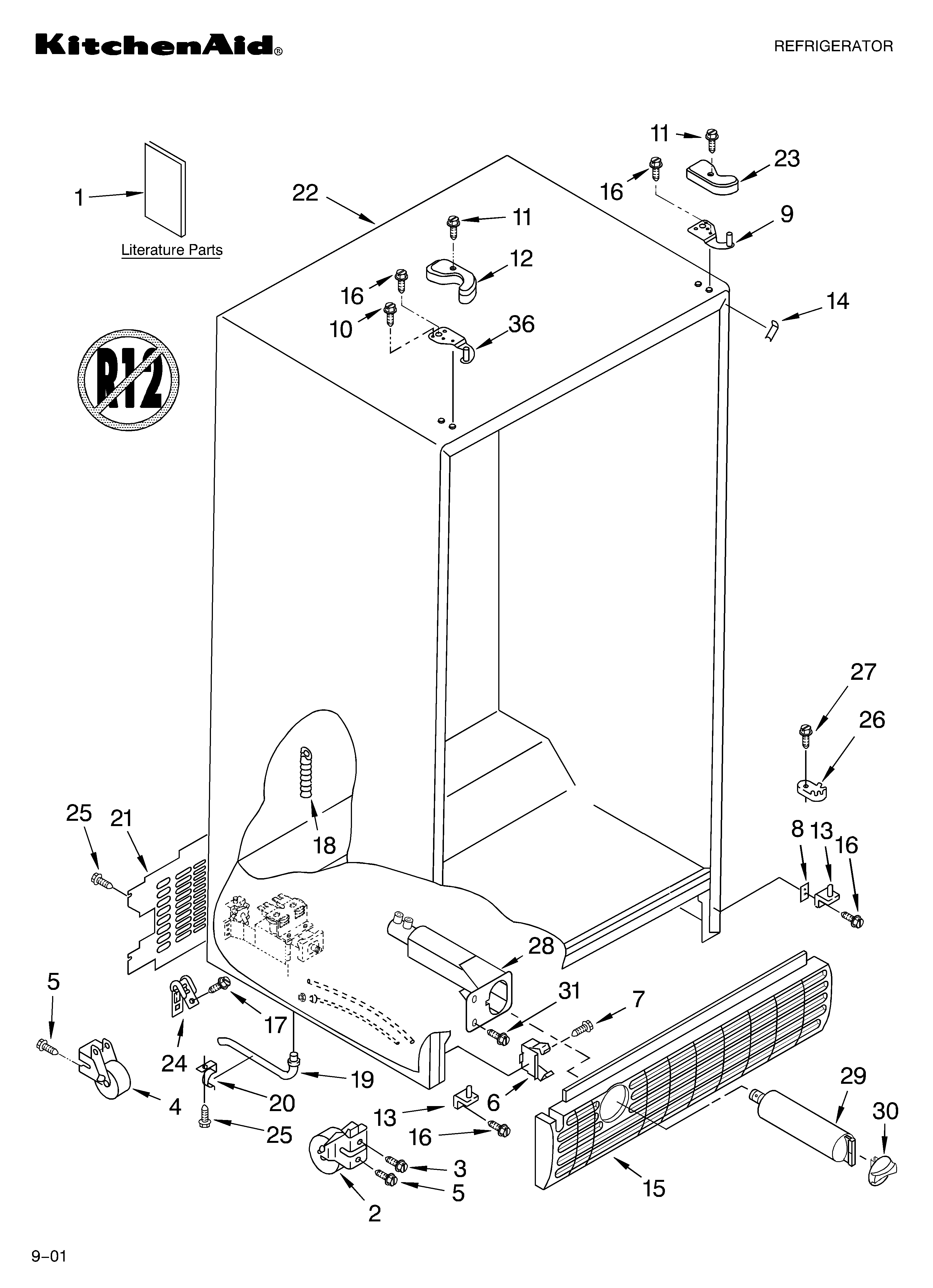 Cabinet Literature Diagram Amp Parts List For Model