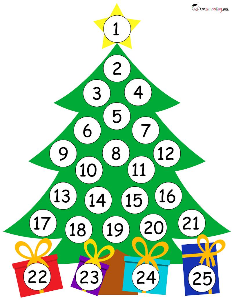 free_Christmas Countdown Calendar.pdf Christmas