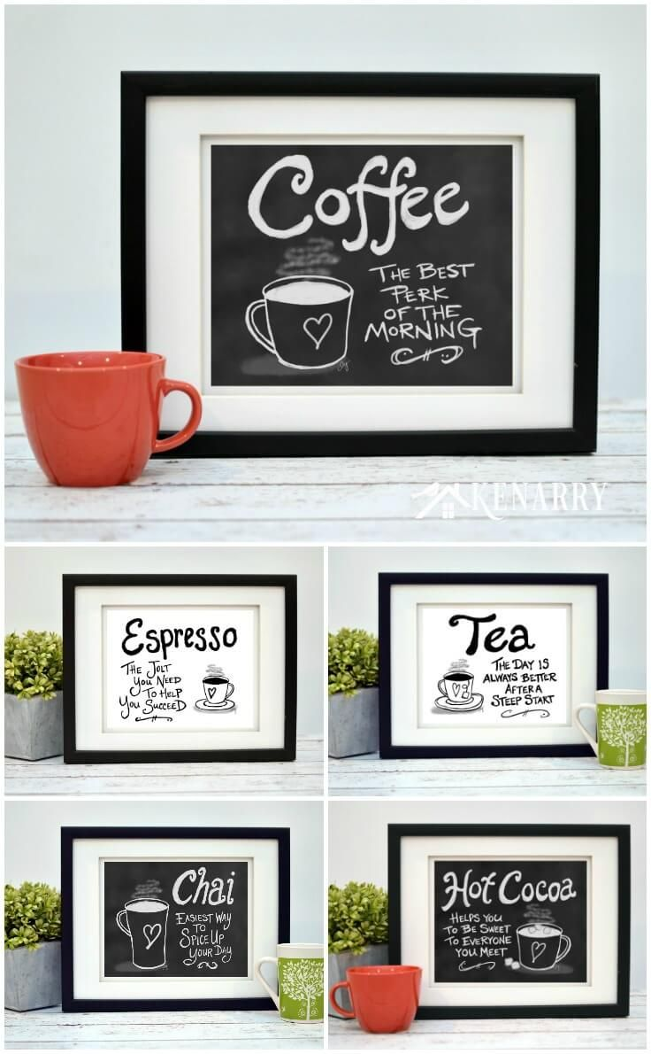 Coffee Wall Art 10 Inexpensive Digital Kitchen Prints Coffee Wall Art Coffee Theme Kitchen Coffee Decor