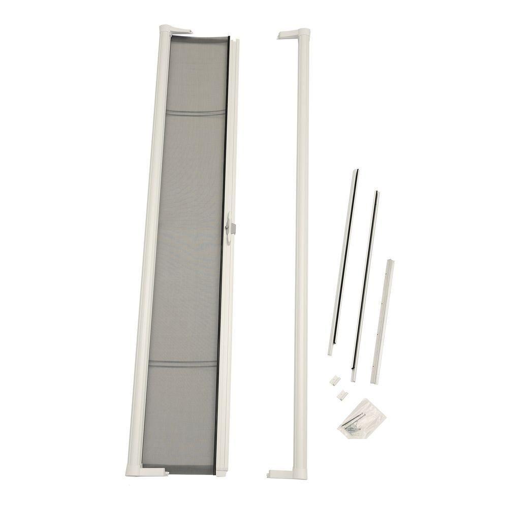 Odl 36 In X 78 In Brisa White Retractable Screen Door For Sliding Door Brslwe The Home Depot In 2020 Retractable Screen Door Retractable Screen Screen Door