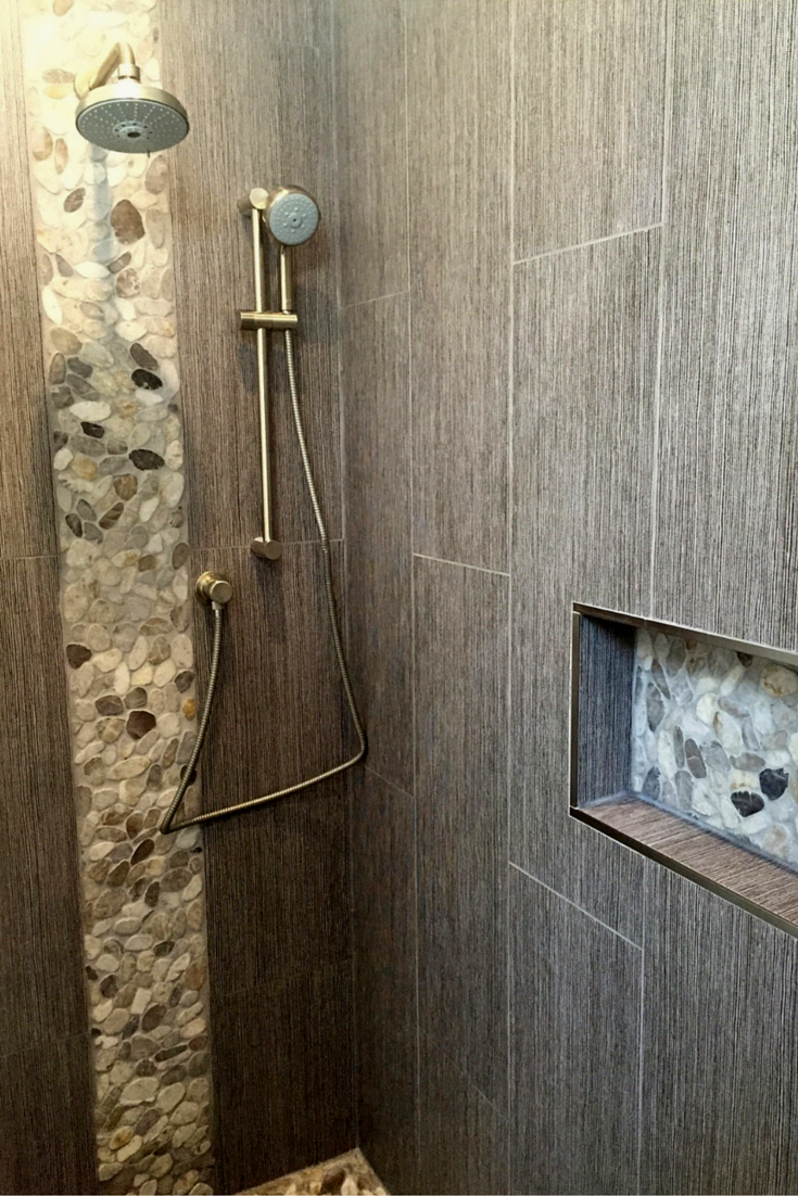 A Zen Minimalist Bathroom Is Worth The Wait Minimalist Showers Pebble Tiles And Minimalist