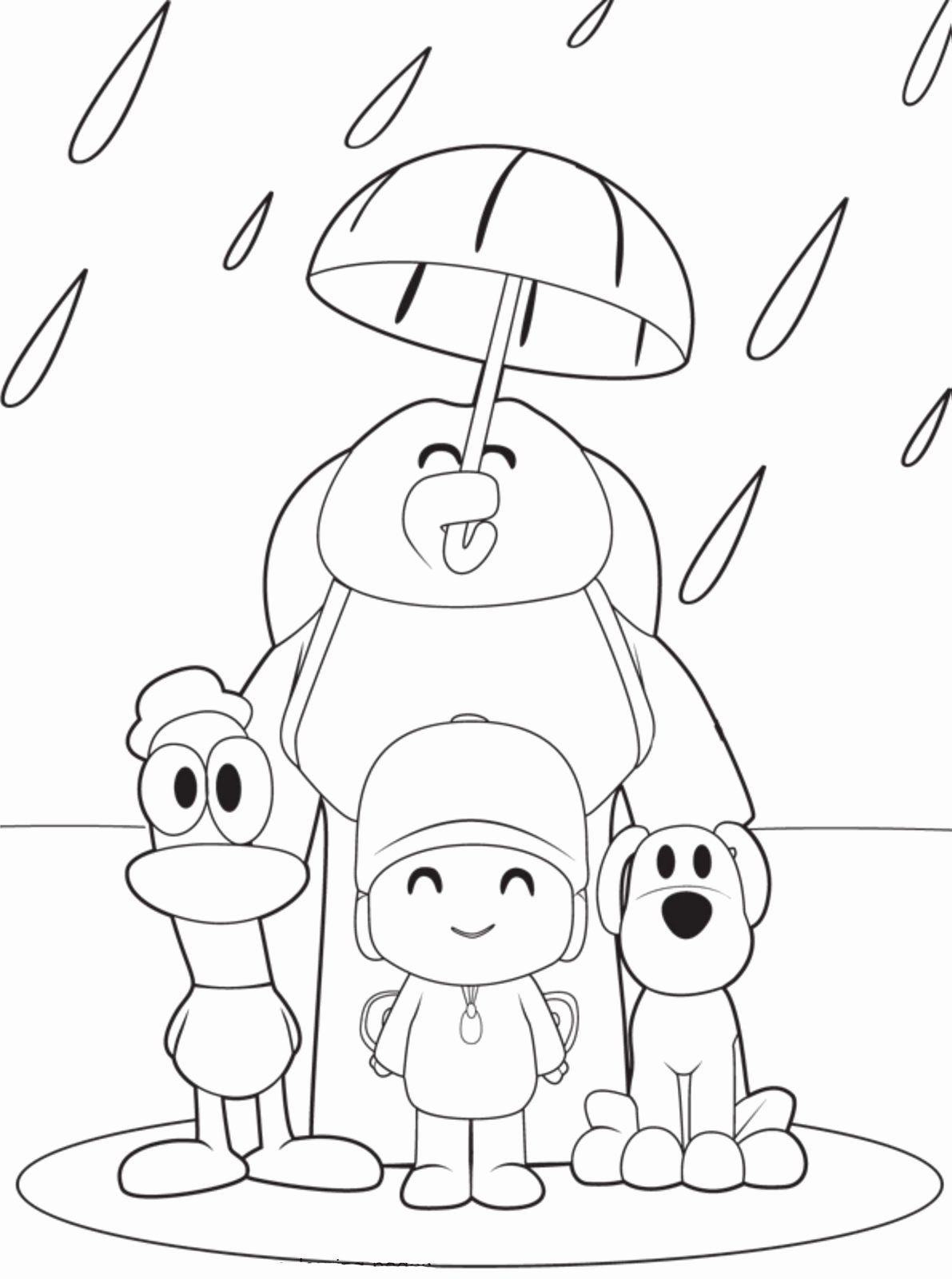 Toddler Coloring Pages Printable Elegant Free Printable Pocoyo Coloring Pages For Kids Cartoon Coloring Pages Umbrella Coloring Page Barbie Coloring Pages