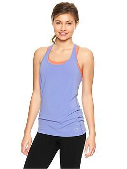 GapFit Breathe heathered racer cami