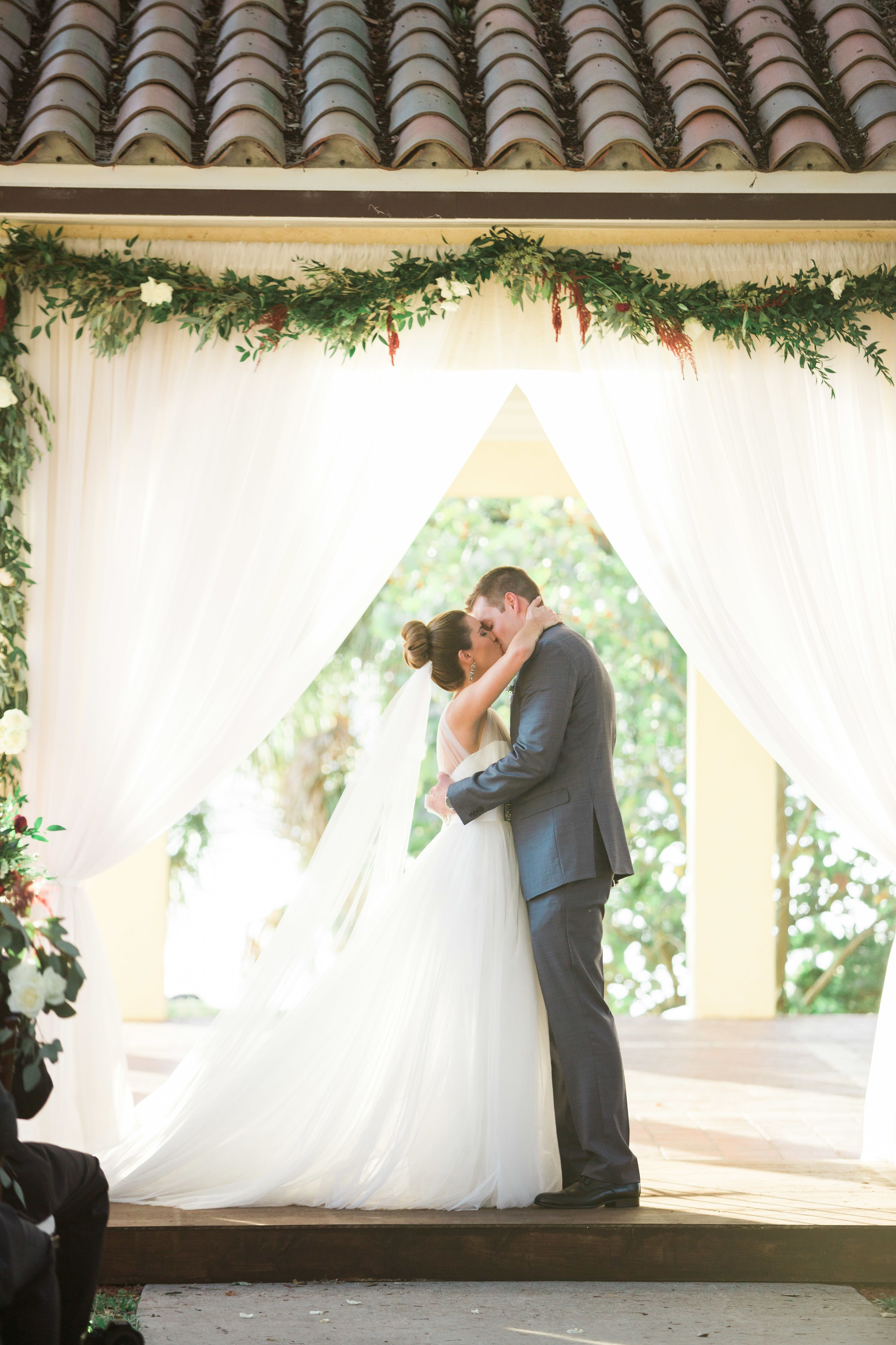 Red + French Blue Al Fresco Estate Wedding Wedding