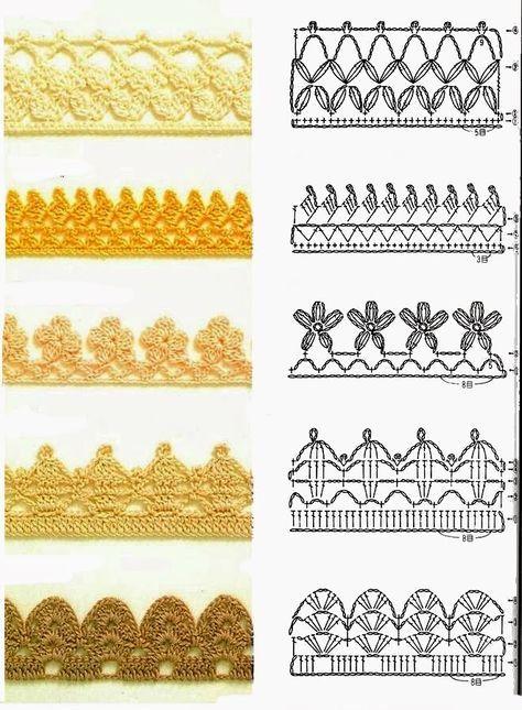 Crochet patterns for edging