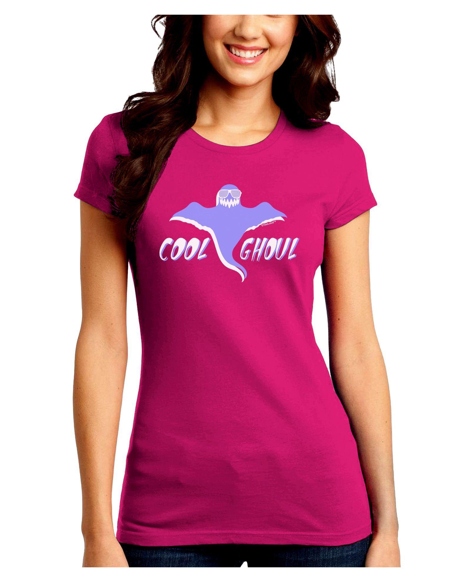 TooLoud Cool Ghoul Juniors Crew Dark T-Shirt