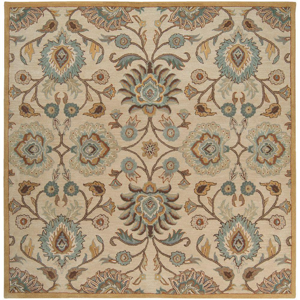 Beige 10 Ft X Square Area Rug