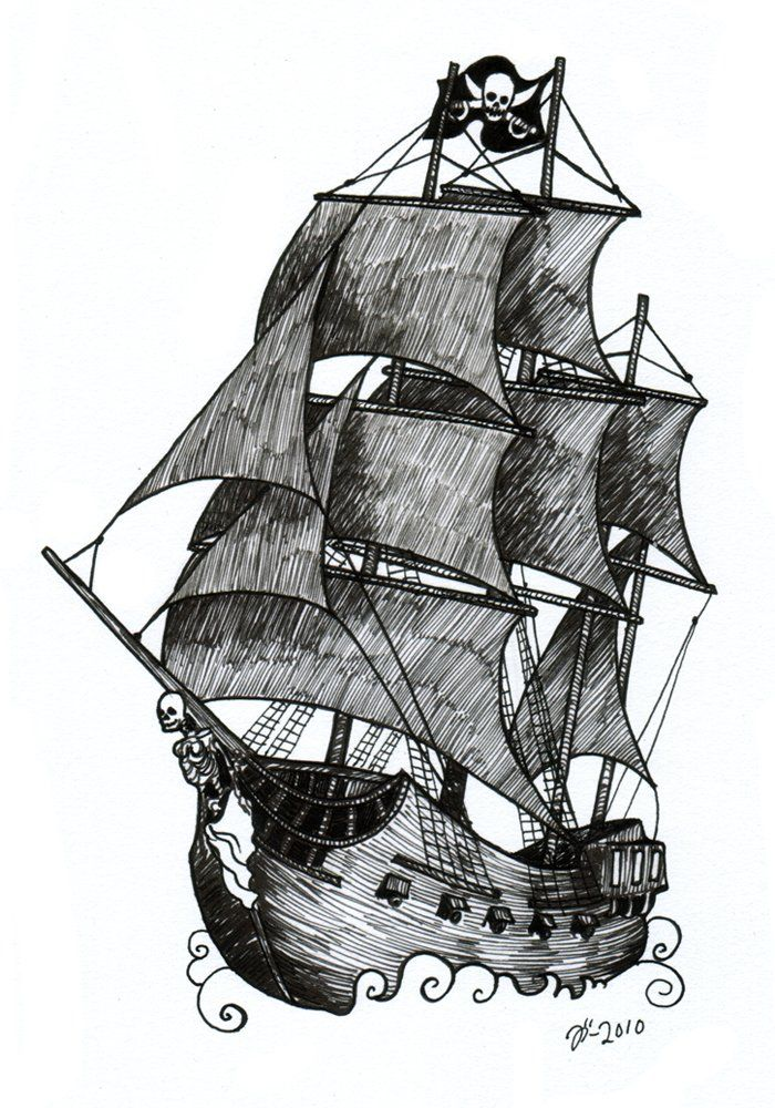 Pirate Ship Tattoo Design The Artwork Of Johanna Ost Ship Tattoo Pirate Ship Drawing Pirate Ship Tattoos