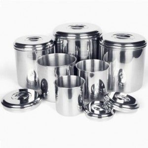 Six Piece High Quality Stainless Steel Canister Set Perfect For Storing Bu Stainless Steel Canisters Stainless Steel Canister Set Stainless Steel Food Storage