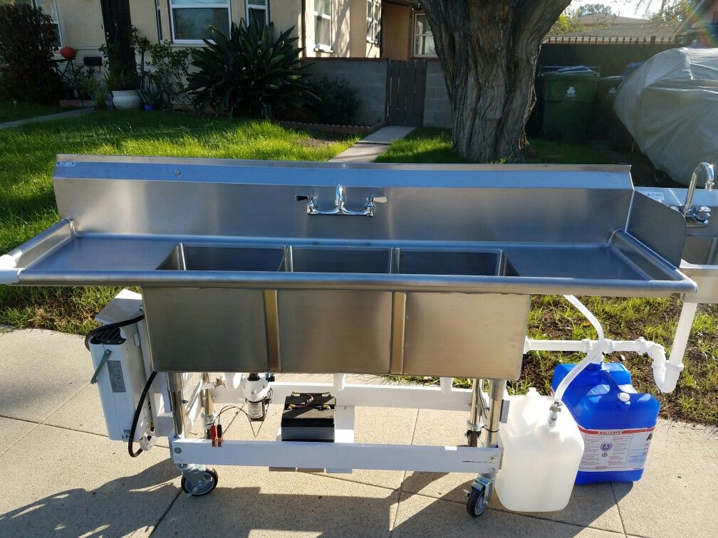 Pin By Javier Magana On 3 Compartment Sink Concession Portable Sink Portable Buildings Portable Sinks