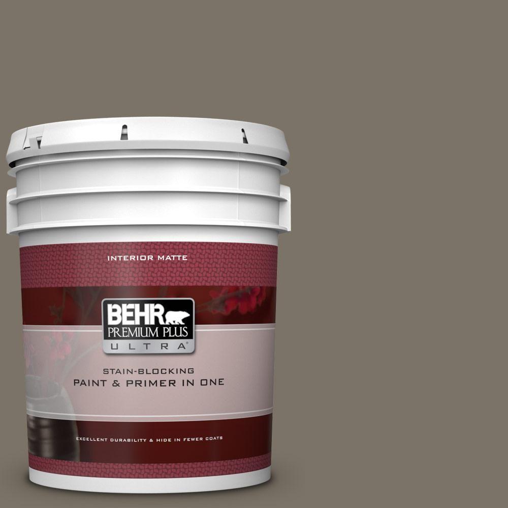 Behr Premium Plus Ultra 5 Gal Qe 38 Rooftop Garden Matte Interior Paint And Primer In One Behr Interior Paint Exterior Paint