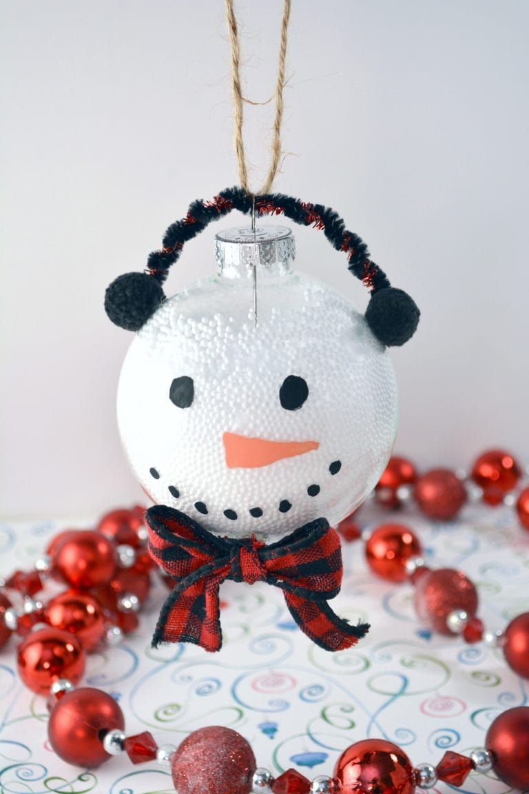 This Handmade Snowman Christmas Ornament Is Fun And Easy For The Kids To Make Using Cle Snowman Christmas Ornaments Handmade Ornaments Kids Christmas Ornaments