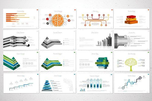 the report powerpoint templateflyer king on @creativemarket, Modern powerpoint
