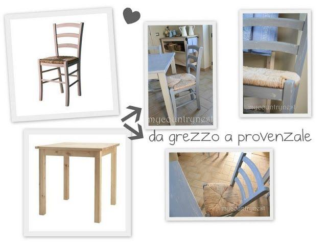 Da grezzo Ikea a provenzale chic: trasformazione delle sedie da ...