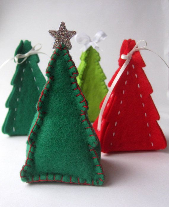 Gift Box Christmas Decorations Pdf Pattern Christmas Tree Gift Box & Ornament Sewing Tutorial